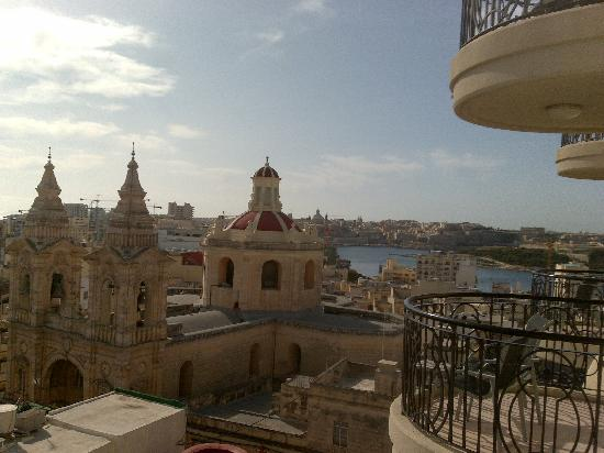 The Palace: View from our room to Sliema