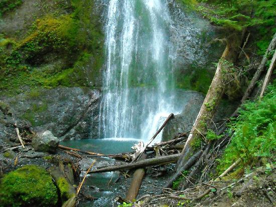 Crescent Lake: Marymere Falls