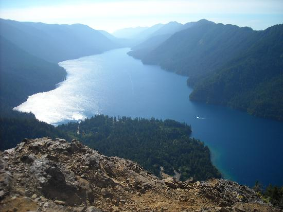 Crescent Lake: The view of Lake Crescent from Storm King Mountain