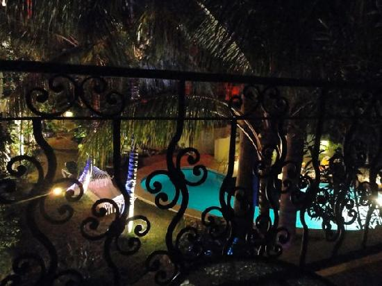 Hacienda Paradise Boutique Hotel by Xperience Hotels: view of pool and hammock from our balcony