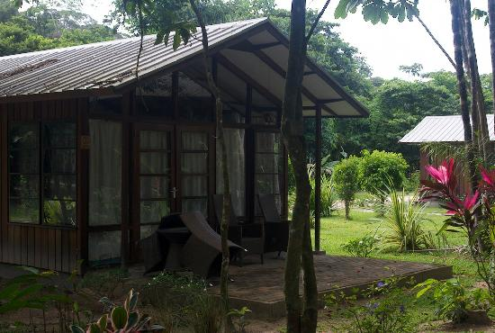 Bergendal Eco & Cultural River Resort: Plush surroundings. 1/2 the cabins are along the river, the other 1/2 are set back in the woods.