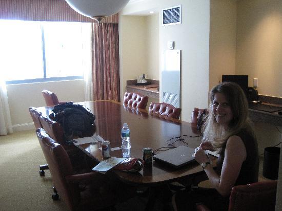 JW Marriott Miami: The board room table