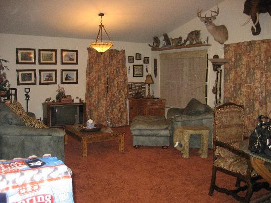 River Lodging B & B: Picture of the living room.