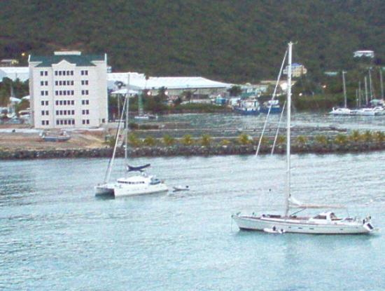 Road Town, Tortola: Two sailboats near the harbor