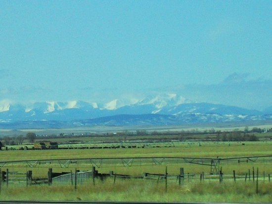The Rockies on our way to Bozeman.