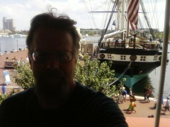 Historic Ships in Baltimore: from the cafe where i had lunch, one story up from the waterfront
