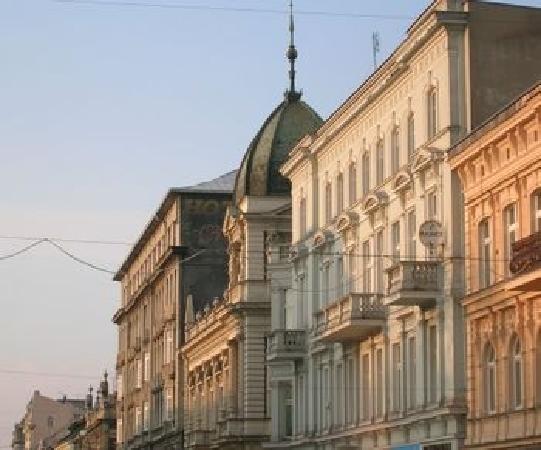 Lodz, la via Piotrkowska