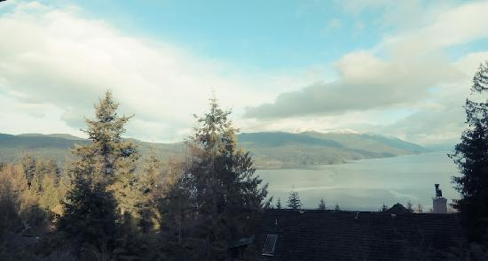 Sechelt Inlet B&B : View from our room every morning. .