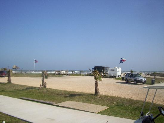 The Breeze Hotel and RV Park: the view from lot 10 out my door