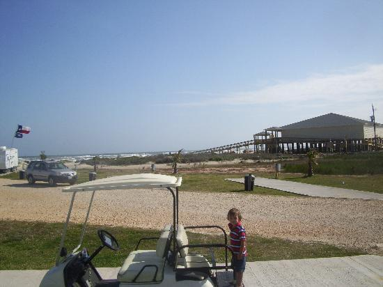 The Breeze Hotel and RV Park: front porch view lot 10