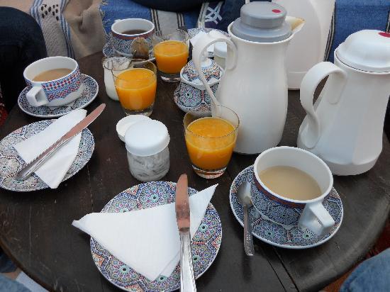 Riad Samsli : la colazione in terrazza