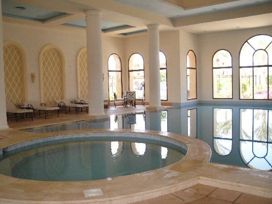 Jaz Almaza Beach Resort: Indoor heated pool , gym massage and sauna