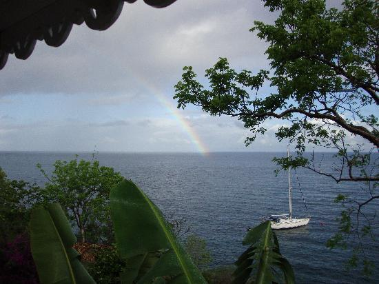 Ti Kaye Resort & Spa: View from the front porch of our cottage.