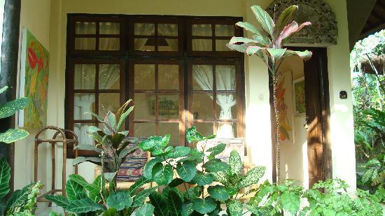 Ubud Inn: My room from outside...nice little patio