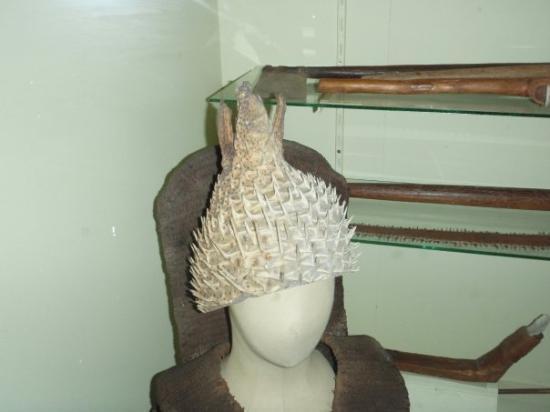 Fiji Museum: Blowfish helmet ..WTF!