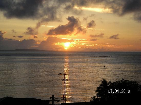 Levuka, Fiji: Sunrise from the top deck