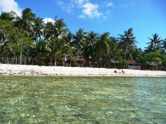 Sirangan Beach Resort: A beach and a lagoon close by