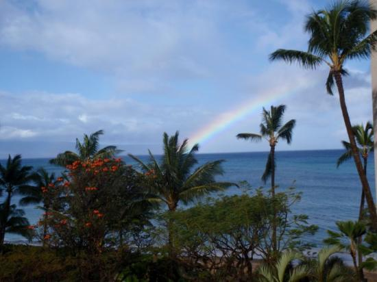 Valley Isle Resort: a beautiful rainbow on easter morning to wake up to right out of balcony!