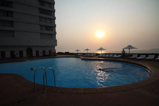 The swimming pool area picture of trident nariman point - Wirral hotels with swimming pools ...