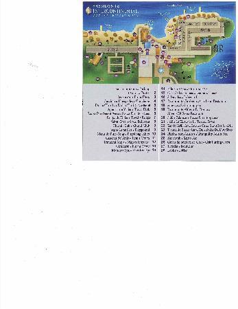 Presidente Inter-Continental Cozumel Resort & Spa : Resort map