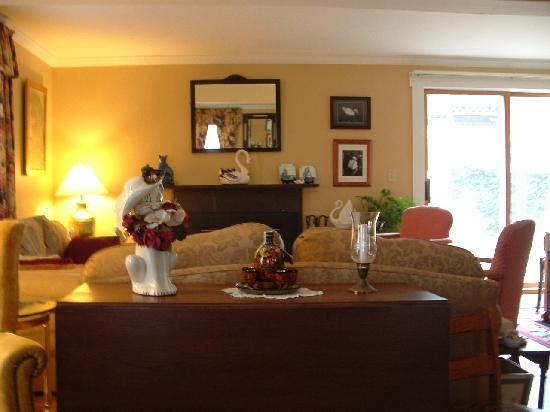 White Swan Bed and Breakfast: Lets sit by the fire!