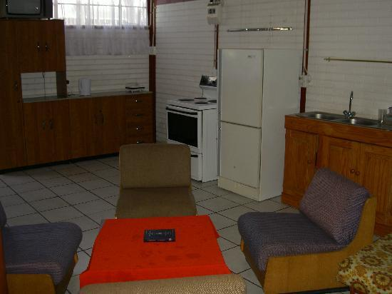 Igloo Inn: the kitchenette in the group/family room also known as mixed international dormitory