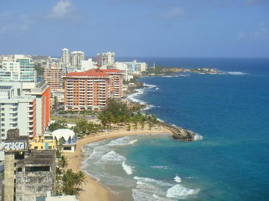 San Juan Marriott Resort & Stellaris Casino: View from pent house balcony