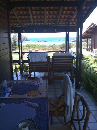 Pousada Solar dos Ventos: veranda from familybungalow