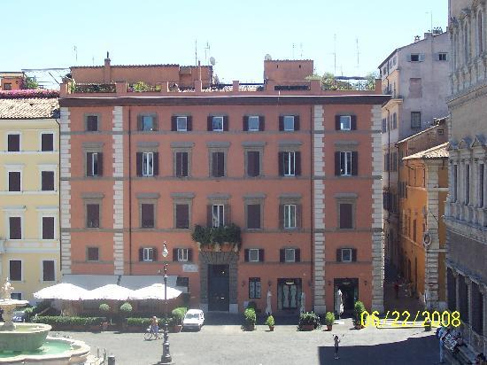 Casa di Santa Brigida: View across the square from our room.