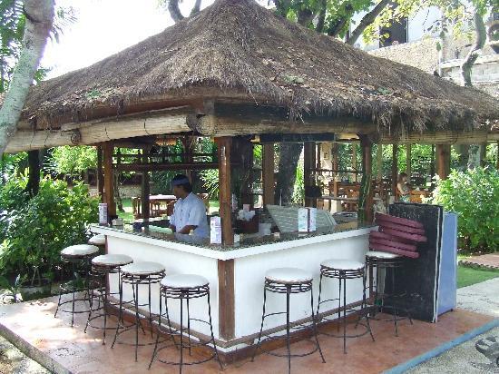 The Sari Beach: pool bar in garden