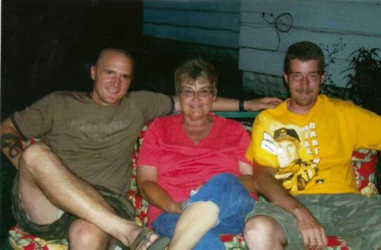 Windfall, IN: With my Mom and Brother in Indiana