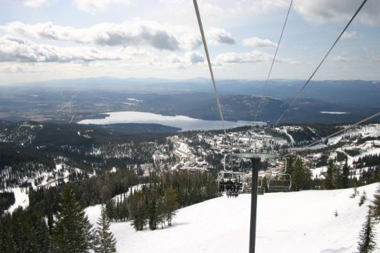 Whitefish, MT: View from the way up looking south