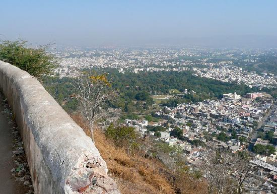 Machla Magra (Fish Hill) : View of Udaipur from Fish Hill