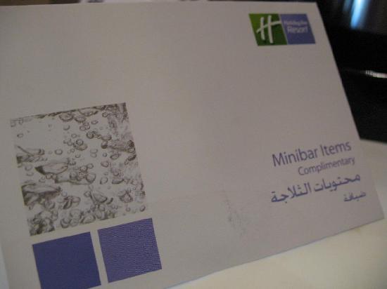 Holiday Inn Resort Dead Sea: Free minibar