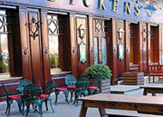Dickens Pub summer entrance