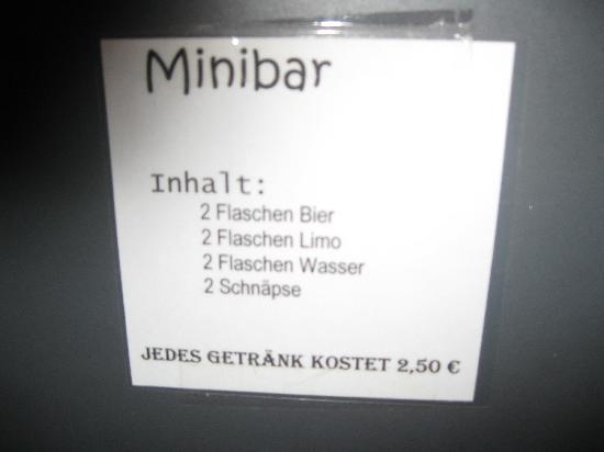 Bergheimat Gasthof: Preise Minibar