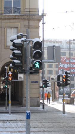 Dresden, Germany: green lady woo!