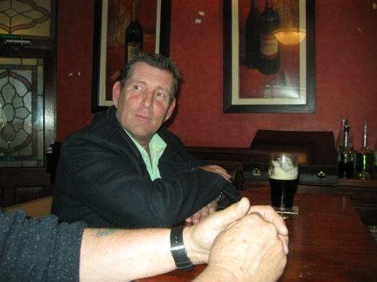 Having a pint with John O Reilly at the Round O in Navan.