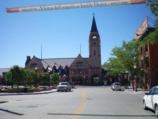 The Cheyenne, Wyoming train station.