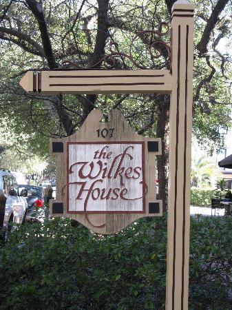 Mrs. Wilkes Dining Room: Street sign
