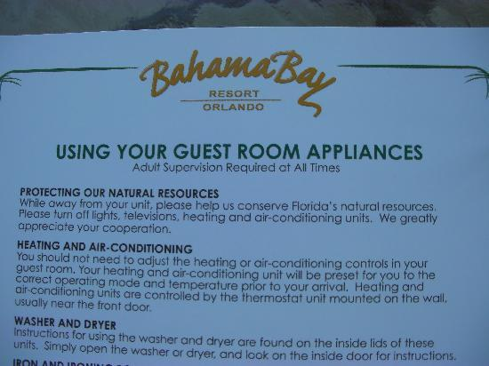 Bahama Bay Resort Orlando by Wyndham Vacation Rentals: Save us money...don't worry about the planet!