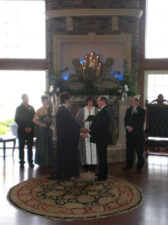 Chelsea Sun Inn: Our Ceremony in front of the beautiful fireplace
