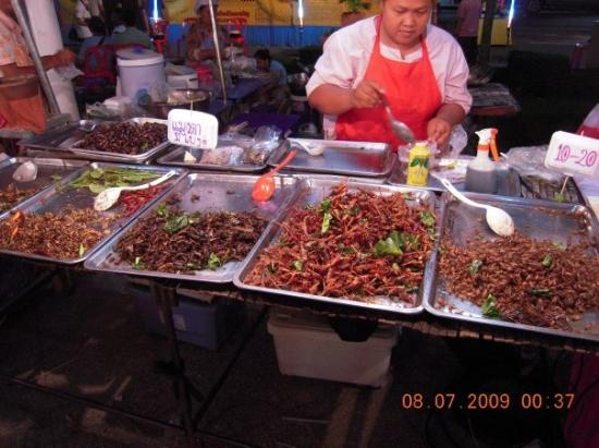 Nakhon Ratchasima, Tajlandia: Insects..food