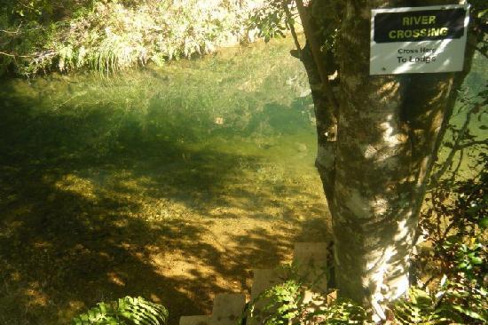 Wairua Lodge - The Hidden River Valley: River crossing