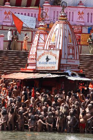 Haridwar, Inde : Naga Sadhus