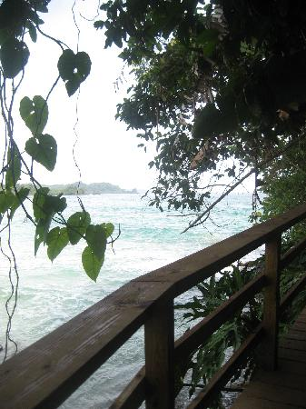 Red Frog Beach Island Resort & Spa: Boardwalk to Red Frog Point