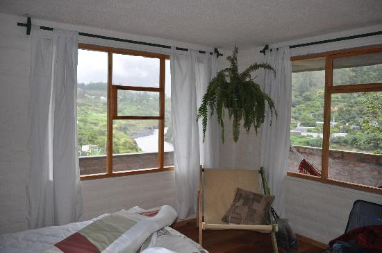 La Casa Verde- Eco Guest House: views from inside our room