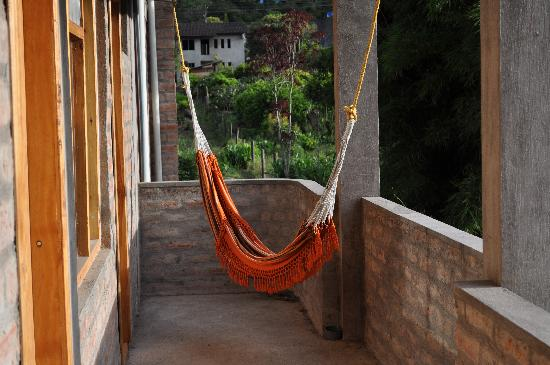 La Casa Verde- Eco Guest House: the hammock on our balcony