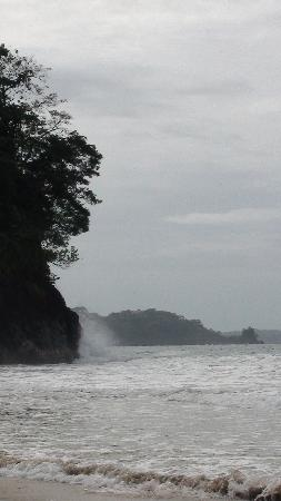 Red Frog Beach Island Resort & Spa: Waves breaking on Red Frog Point
