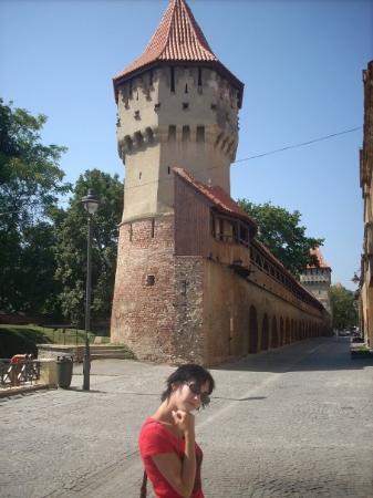Sibiu, Rumænien: Y con su muralla, por supuesto